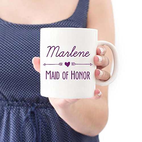 Custom Bridesmaid Gift Mug, Bridal Party Gift, Personalized Mug, Wedding Mugs, Custom Mug, Gift for Her, Maid of Honor Gift, 11oz, 15oz, gift
