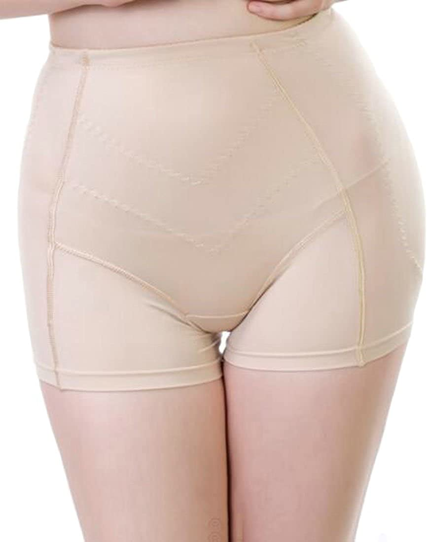 JuJuTa Ladies Padded Butt-Lifting Slim Waist Underwear Breathable Panties Boyshort