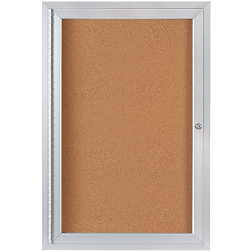 Top Pack Supply Enclosed Cork Board with Aluminum Frame, 2' x 3', Brown (Pack of 1) ()
