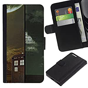 KLONGSHOP // Tirón de la caja Cartera de cuero con ranuras para tarjetas - Médico Retro Vintage stand - Apple Iphone 6 PLUS 5.5 //