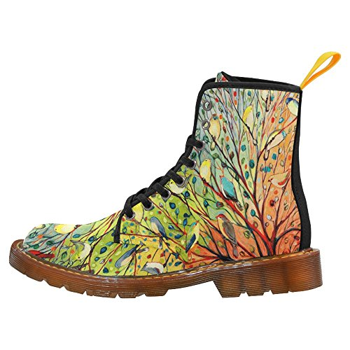 Interestprint Vrouwen Laarzen Uniek Ontworpen Troost Lace Up Boots Multi-7