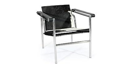 Genial Kardiel Sling Chair, Black U0026 White Cowhide Leather