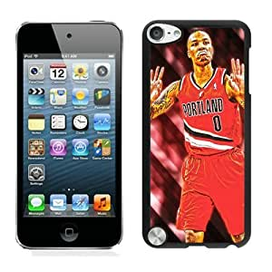 New Custom Design Cover Case For iPod Touch 5th Generation Portland Trail Blazers damian lillard 3 Black Phone Case