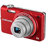 Samsung EC-ST65 Digital Camera with 14 MP and 5x Optical Zoom (Red) (International Model)
