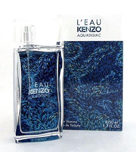 L'Eau Kenzo AQUADISIAC by Kenzo Eau de Toilette Spray for Men 1.7 FL. OZ./50 ML
