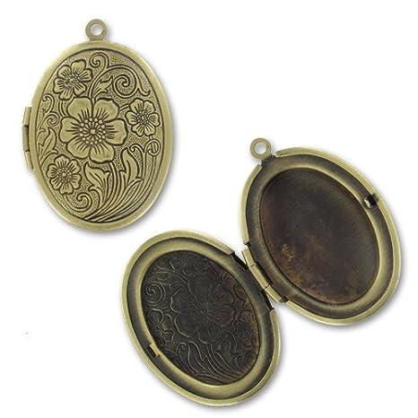 Colgante portaretratos ovalado 33x24 mm gold bronce x1: Amazon.es: Juguetes y juegos