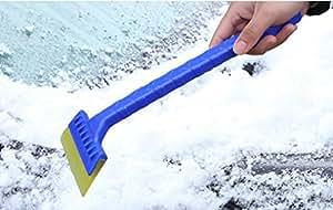 tharv vehículo resistente nieve hielo Pala Scraper Brush invierno Escarcha y de uso pesado, de retirada de nieve para coche parabrisas y ventana