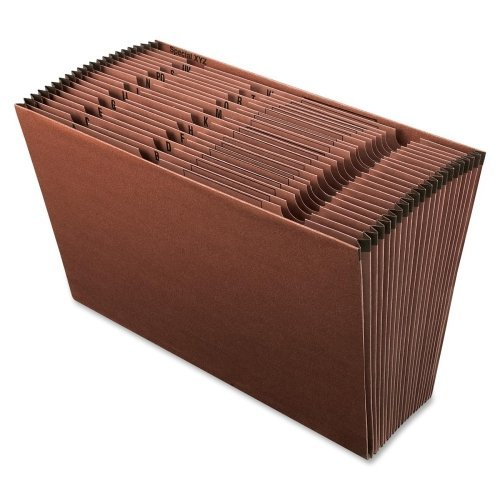 Wholesale CASE of 10 - Esselte A-Z Earth Wise Recycled Expanding Files-21-Pocket Expand File, A-Z, Legal, 10''x15'', Red