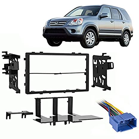amazon com: fits honda crv 1999-2006 double din aftermarket harness radio  install dash kit: car electronics