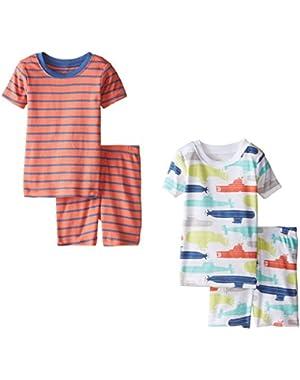 Baby Boys' 4 Piece Short PJ Set (Baby) Submarine