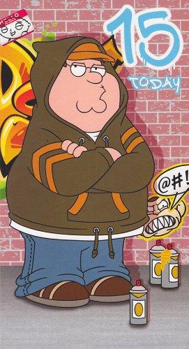 Family Guy Age 15 Birthday Card Amazon Toys Games