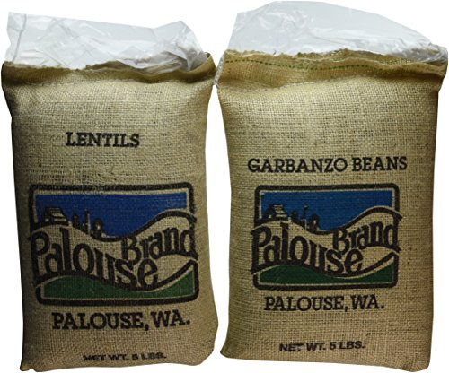 U.S.A Grown | Bean Pack (5 LBS Pardina Lentils and 5 LBS Garbanzo Beans) 10Lbs Total | 100% Non-Irradiated | Certified Kosher Parve | Non-GMO Project Verified |Identity Preserved (We tell you which field we grew it in) by Palouse Brand (Image #1)