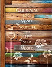 Garden Planner & Journal: Gifts for Lovers of Gardening to make a 1 year Diary starting any time (A soft covered large notebook with a decorative black & white interior from our Rustic Rainbow range)