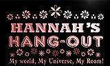 pq368-r Hannah's Hang Out Girl Kid's Room Light Princess Neon Light Sign