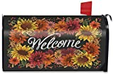 Briarwood Lane Fall Flowers Welcome Magnetic Mailbox Cover Autumn Sunflowers