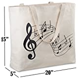 Reusable Canvas Bag - Attractive Tote Bag with Printed Themes and Messages. Durable with Double Stitch and Sturdy Shoulder Straps to Handle Heavy Items. Made in USA
