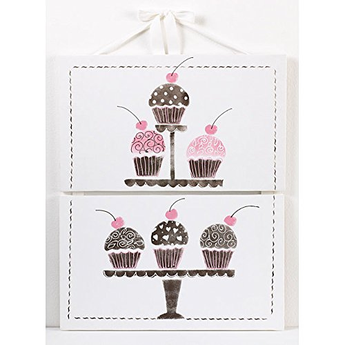 Cotton Tale Designs 2 Piece Wall Art, Cupcake