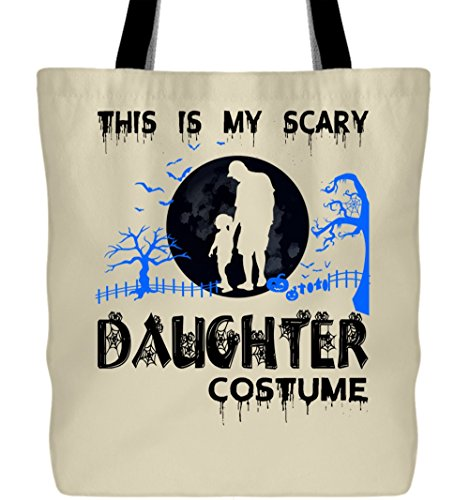 I Love My Daughter Canvas Tote Bags, My Scary Daughter Costume Tote Bags (Tote Bags - Pastel Yellow)