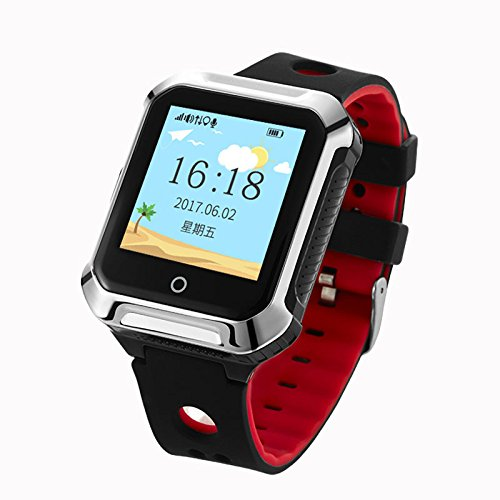 IP67 Waterproof GPS WIFI Tracker Locator For Kids Children Smart Watch Kids WristWatch Anti-lost SOS Call Location Finder Remote Monitor Pedometer Parent Control By iPhone and Android APP (Black)