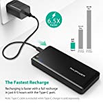 Portable Charger RAVPower 26800mAh 30W PD USB C Power Bank High-Capacity Power Delivery External Battery Pack with Fast… 10 【Large Capacity】:The massive 26800mAh battery capacity provides more than 4 charges for iPhone 11 Pro Max, 6 full chargers for Samsung S20, 7 full charges for Huawei P40, one and a half charges for iPad Pro; fully compatible with iPhone 11/12/12Mini/12 Pro/12Max Pro/XS / XS Max / XR, Samsung Galaxy S20/S10/S9/S8/S7 and other USB devices. 【Massive 30W Type-C Output】: Deliver a 30W high-speed charge to phones, tablets, laptops, and more via the two iSmart ports; recharge the 26800mAh battery through the Type-C port in just 4-5 hours (compared to the standard 14 hours). 【Multiple Outputs】:The Type-C output reaches up to 30W that matches the original AC MacBook charger, so you can charge all devices including a MacBook in no time; additional two 2.4A iSmart ports support more devices charging at the same time.