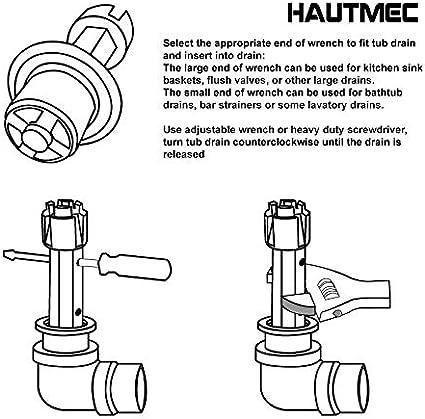 Hautmec Tub Drain Remover Wrench Pl0030 Amazon Com