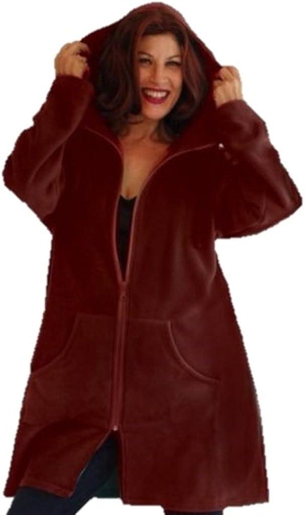 LOTUSTRADERS Coat Jacket Zipper Hooded Pocket Sporty Soft Fleece J154