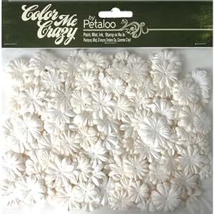 Petaloo Color Me Crazy 360-Piece Flower Layers Value Bag for Scrapbooking, Mini