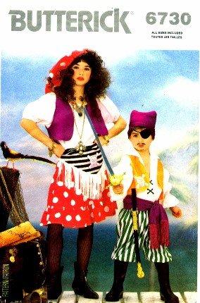 Butterick 6730 Sewing Pattern Girls Boys Gypsy Pirate Costumes Size 4 - 14  sc 1 st  Amazon.com & Amazon.com: Butterick 6730 Sewing Pattern Girls Boys Gypsy Pirate ...