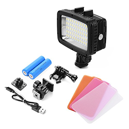 XCSOURCE Underwater 40M Waterproof LED Diving Video Light 60 LEDs 1800LM for GoPro Hero 3/4 Sports Cameras DSLR LD846 by XCSOURCE (Image #1)