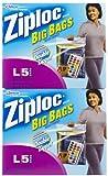 ziploc big bags - Ziploc Big Bag Large Double Zipper - 5 ct - 2 pk