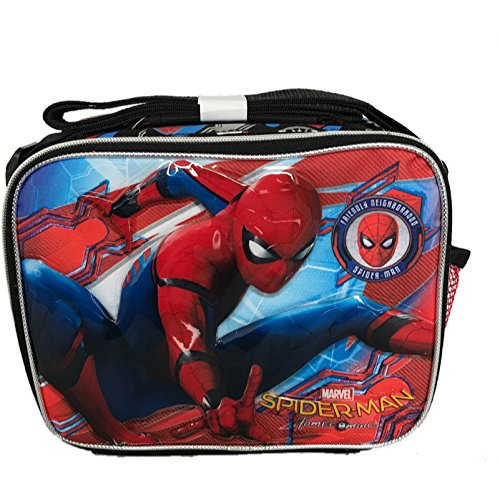 (Ruz Spider-Man Home Coming Lunch Bag with Adjustable Shoulder Strap - Not Machine Specific)