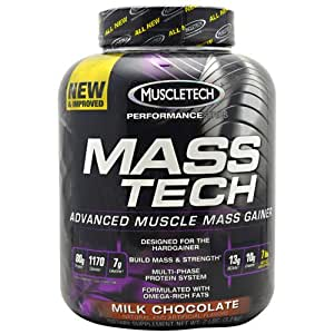 Amazon.com: Mass-Tech By MuscleTech, Weight Gainer, Milk Chocolate 7lb: Health & Personal Care