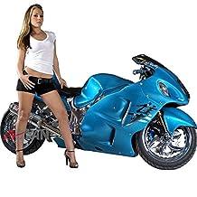 Moto Onfire Injection Mold Fairings Plastic Kit Fit Suzuki Hayabusa GSXR1300 1997-2007 Candy Blue
