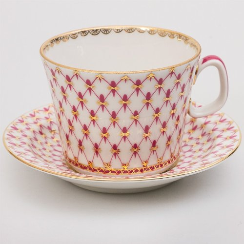(Imperial / Lomonosov Porcelain Teacup w/ Saucer