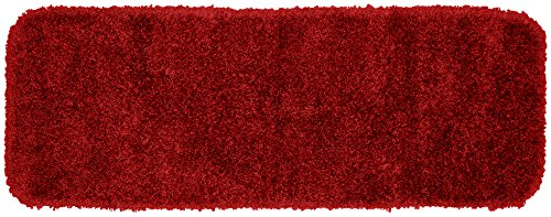 (Garland Rug Serendipity Shaggy Washable Nylon Rug, 22-Inch by 60-Inch, Chili Pepper Red)