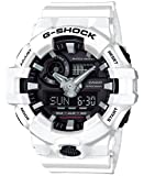 Casio Men's 'G SHOCK' Quartz Resin Casual Watch, Color:White (Model: GA-700-7ACR)