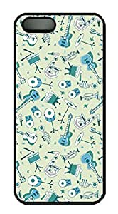 Musical Instruments Pattern Sakuraelieechyan Iphone 5/5S Hard Shell Black Sides Case Kimberly Kurzendoerfer