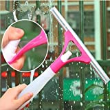 PLAY DESIGN Spray Type Cleaning Brush Glass Wiper Window Clean Shave Car Window Cleaner Brush, (Multicolor)
