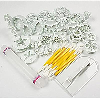 GTI Cake Tools 14 sets (46pcs) Flower Fondant Cake Sugarcraft Decorating Kit Cookie Mould Decration Tool Icing Plunger Cutter Tool