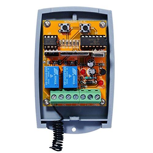 Universal 2-befehl Rolling Fixed code 12 - 24 VAC/DC Funkempfänger. N/O - N/C