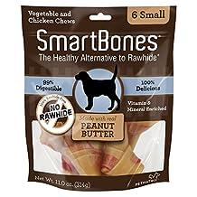 SmartBones Peanut Butter Dog Chew, Small, 6-Count