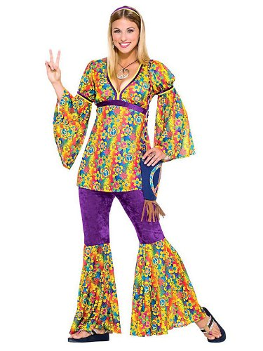 Purple Haze Hippie Teen Halloween Costume
