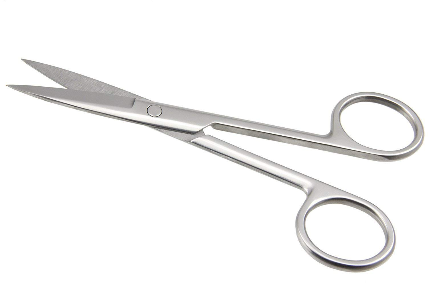 Confidence Small Scissors For Nose Hair Cutting Moustache Scissors For Men,  Silver, Pack Of 10