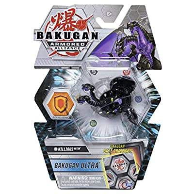 Bakugan Ultra, Darkus Nillious, Season 2 Armored Alliance - 3-inch Tall Collectible Transforming Creature, for Ages 6 and Up: Toys & Games