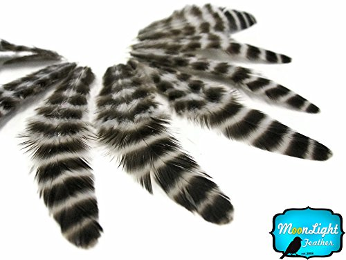 Cyberpunk Costumes (Natural Grizzly Hen Loose Feather for Crafting 12pc/bag)