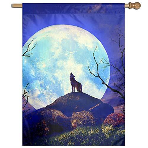 Cry Wolf Costumes - YUANSHAN Single Print Home Garden Flag