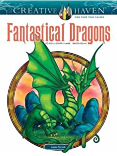 Creative Haven Fantastical Dragons Coloring Book Adult