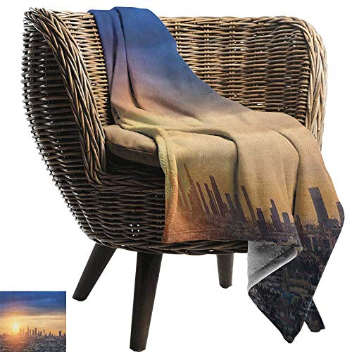Josepsh City, Throw Blanket,Sunrise at Los Angeles Urban Architecture Tranquil Scenery Majestic Sky 60