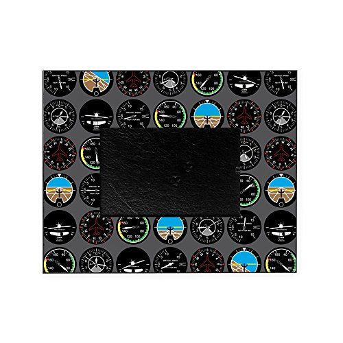 CafePress - Flight Instruments - Decorative 8x10 Picture Frame (Frame Airplane Picture)