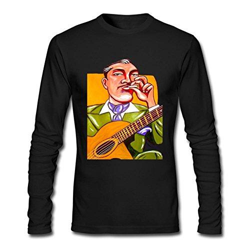 WANTAI Men's Django Reinhardt Long Sleeve Cotton T - Friday Americas Black Hours Las
